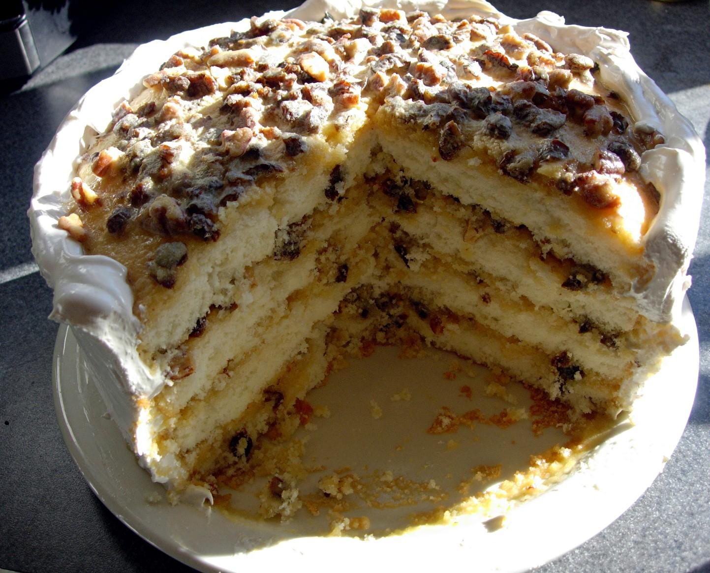 Alma's Lane Cake ~ Drick's Rambling Cafe
