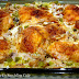 Baked Chicken over Creamy Mushroom Rice