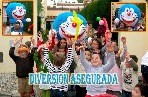 Doraemon,bob esponja,dora la exploradora en Sevilla