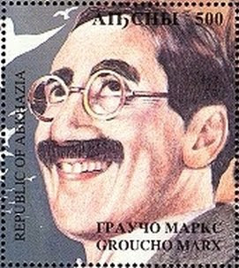 groucho marx stamp Abkhazia