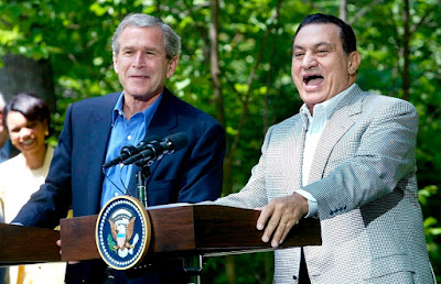 mubarak and george w bush
