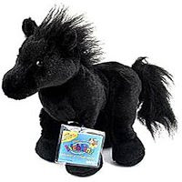 black friesian retired webkinz