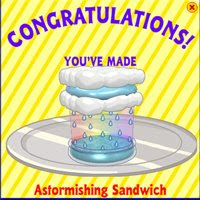 astormishing sandwich webkinz secret recipes