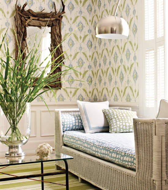 Thibaut Wallpaper - Island Ikat 
