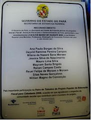Placa em homenagem à Escola Barão de Igarapé Miri