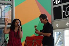 Nanah Correia, Julian Tirado e Banda, tocando bossa nova no Sesc Sto. André
