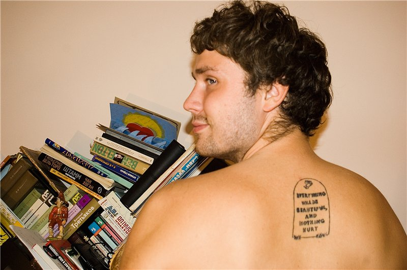 Today we have a tattoo featuring a favorite author of Prongs, Kurt Vonnegut.