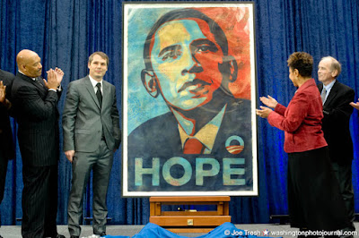 Shepard Fairey's Obama at the NPG by Joe Tresh