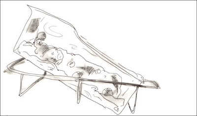 Anderson Campello after he was cleaned up, Birthing Drawing Series by F. Lennox Campello