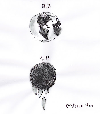 BP Oil Spill cartoon