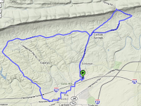 Map of Today's Ride
