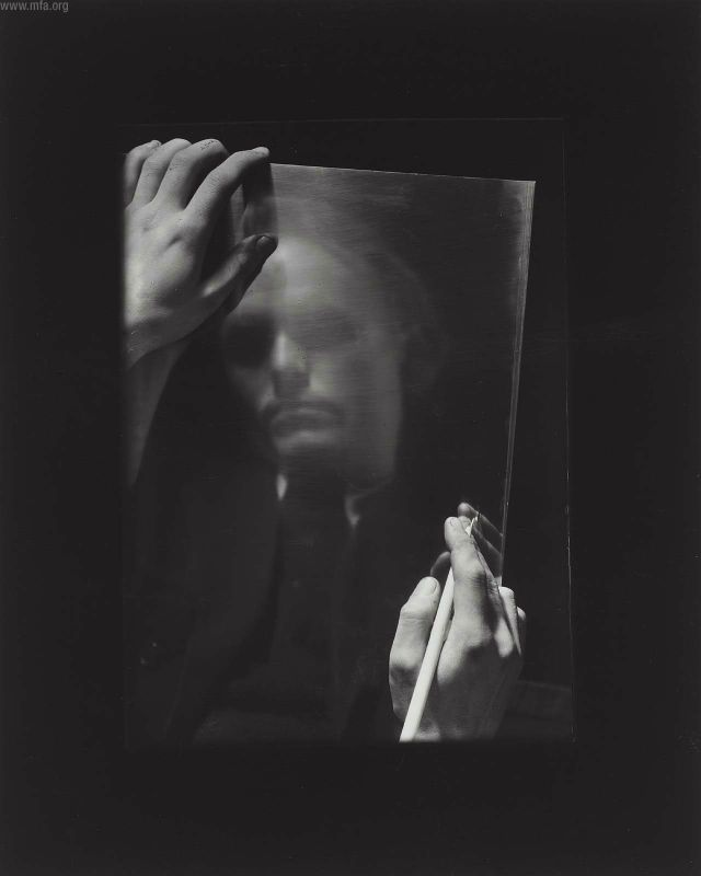 """PORTRAIT OF THE PAINTER VACLAV SUVKO"" : JOSEF SUDEK, 1955"