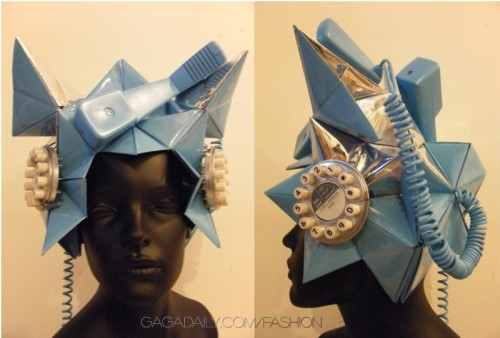 lady gaga telephone hat