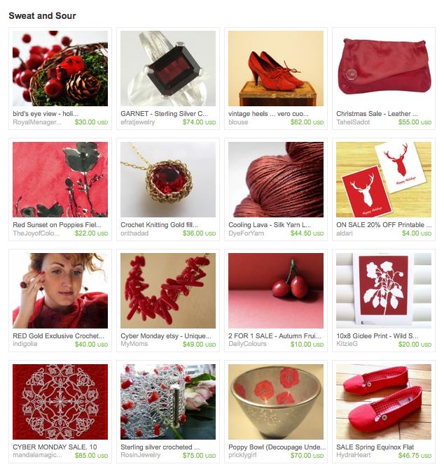 La esp tula roja colecciones en rojo red collections for Colecciones en red