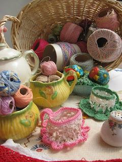 Free Crochet Pattern - Tea Cup and Saucer from the Ornaments Free