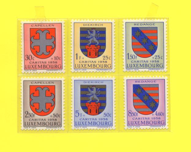 Kiser Coat Of Arms. Luxembourg - Coat of Arms 1958