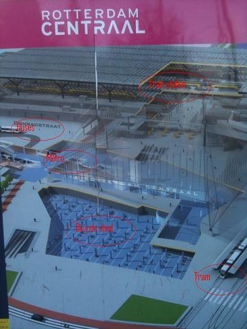 Rotterdam Centraal in the near future