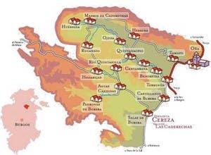 Mapa Valle de Caderechas