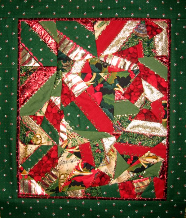 Quilts Color Christmas Crazy Quilt