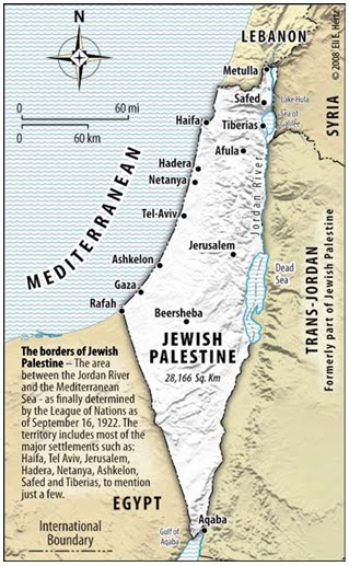 map of israel and palestine 1967. The quot;Mandate for Palestinequot;