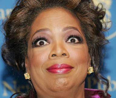 Even Oprah's trying not to laugh at this one…