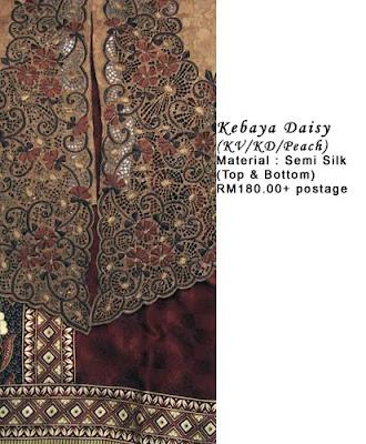 RM180 + P&P - Kebaya Daisy Peach