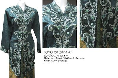 Size XL: RM240 + P&P - KJ01 Kebaya Jadi Green