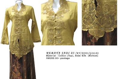 Size M: RM200 + P&P - KJ03 Kebaya Jadi Gold
