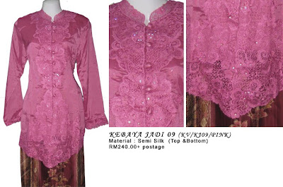Size M: RM240 + P&P - KJ09 Kebaya Jadi Pink