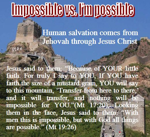 Impossible vs. I��m possible