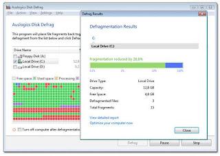 auslogics disk defrag Optimized Software software gratis terbaik untuk komputer anda
