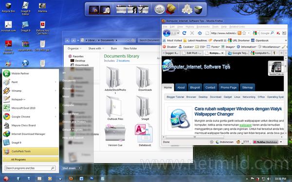 Mycustom Customize Windows agar tampil cantik dengan CustoPacks Tools