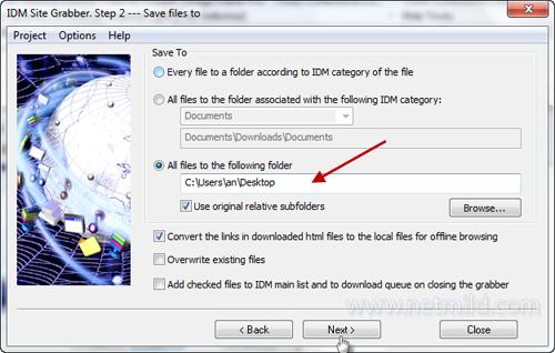 Grabber next Cara simpan website offline browsing dengan IDM