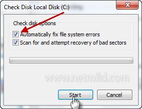 Check+Disk Cara mudah periksa kesehatan Hard Disk Di Windows 7