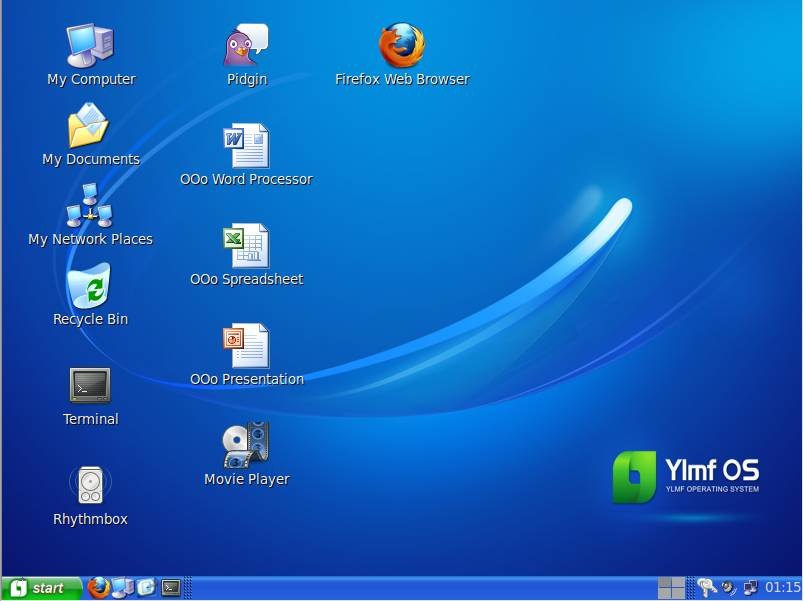 image Buat Linux seperti Windows XP dengan YlmF OS