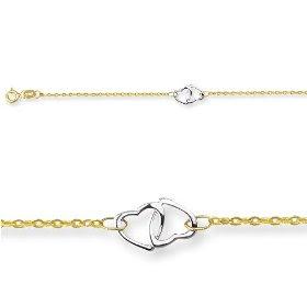 Double Hearts Adjustable Ankle Bracelet