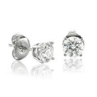 Gold NATURAL Diamond Stud Earrings