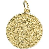 Aztec Sun Charm