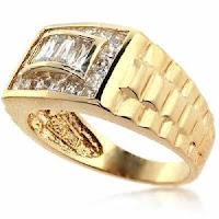 Sterling Silver Designer Inspired CZ Men's Ring