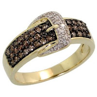 14k Gold Belt Ring