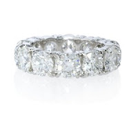 White Diamond Platinum ring