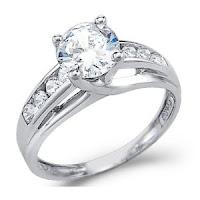 CZ Cubic Zirconia Engagement Ring