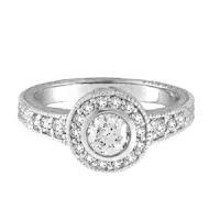 Diamond Bezel Set Antique Style Ring