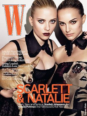 Scarlett Johansson & Natalie Portman @ W