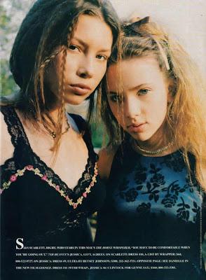 Jessica Biel & Scarlett Johansson, 1996