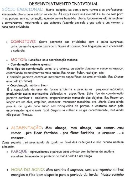 RELAT  RIOS INDIVIDUAIS