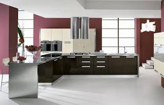 consigli per la casa e l' arredamento: imbiancare cucina: colori ... - Arredamento Grigio E Rosso
