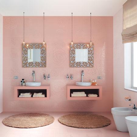 Consigli per la casa e l 39 arredamento arredamento i - Piastrelle bagno rosa ...