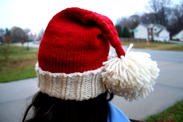 Knit Santa Hat Pattern : You know how were an art family...: Santa Hat for kids pattern