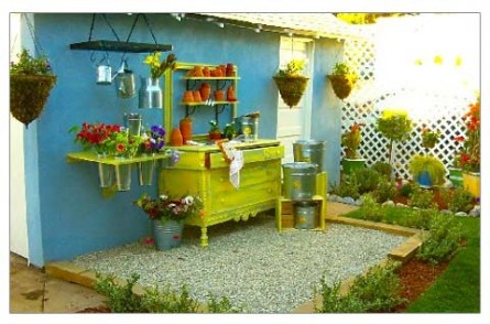 Repurpose Old Furniture Entrancing Of Repurposed Dresser as Potting Table Photos